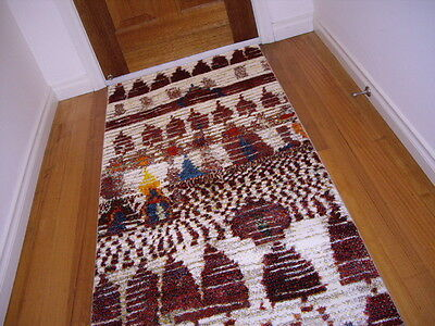Hallway Runner Hall Runner Rug 3 Metres Long Modern Multi Colored Designer