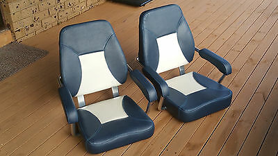 Axis Mini Mojo Boat Seats Pair plus two locking swivel bases.