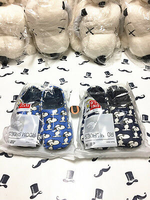 Uniqlo x KAWS x Peanuts Snoopy Navy Blue Room Shoes Slippers Size Medium Large