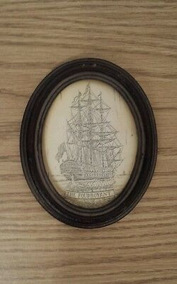 Old Ship's Commemorative Nautical Plaque of HMS Foudroyant 80 Gun Ship oftheLine