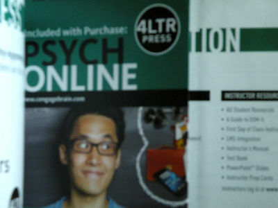 PSYCH Textbook by Spencer A. RATHUS Student Edition 4 with insert unopened