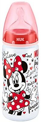 NUK First Choice+ Disney Mickey and Minnie 300ml Bottle with 6-18mths Silicone
