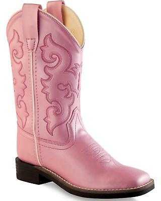 Old West Girls' Western Boot - Square Toe  - VB9120