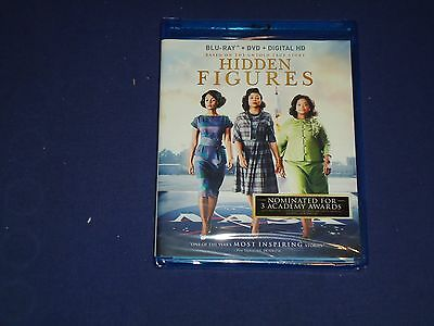 Hidden Figures (Blu-ray/DVD, 2017, 2-Disc Set, Includes Digital Copy)