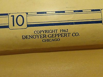 BIG Vintage School Map Denoyer-Geppert Co Chicago J4 pull down Africa 1962