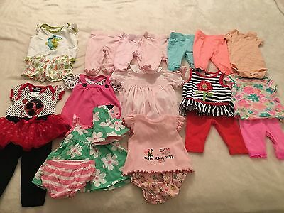 Cute! ~ Lot of 14~~~ Newborn 0-3 Month Baby Girl Infant Dresses Outfit Carters