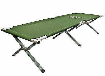 Big Tall Camping Cot Survival Gear Camper Tent Outdoor Sleeping Bed Army Folding