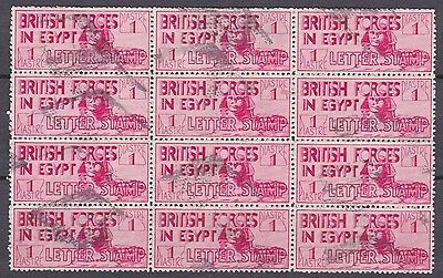 Egypt 1932 British Forces  Letter Stamp Block 12 Used Stamps Retta