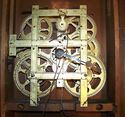 Antique Strap Movement; Birge & Mallory 8 Day Time & Strike Weight Driven Clock