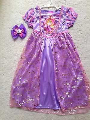 New Disney Purple Rapunzel Girls Nightgown Play-Dress (Size 4,6,8)