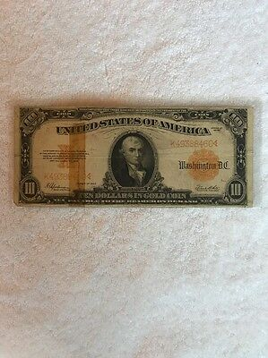 """1922 Series  """"$10 GOLD COIN CURRENCY"""""""