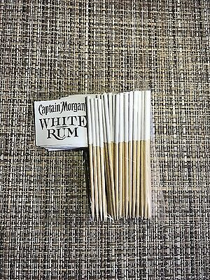 Captain Morgan White Rum - Set of 50 Drink Flags - Skull & Crossbones - NEW