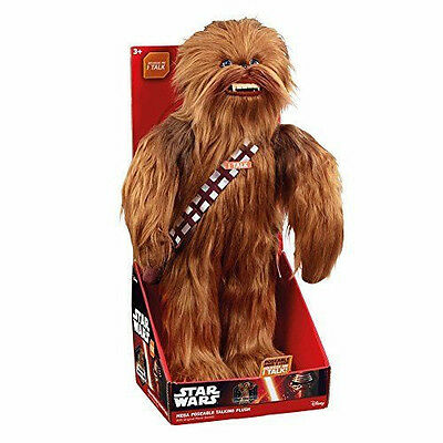 "Star Wars Super Deluxe Realistic Chewbacca 24""  Talking Plush Underground Toys"