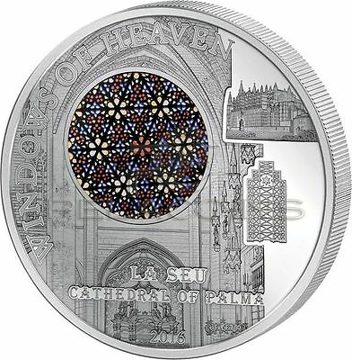 Cook Islands 2016 10$ La Seu Cathedral Palma Windows of Heaven Silver Proof 50g