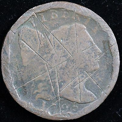 1795 1C Flowing Hair Liberty Cap Large Cent UNSLABBED