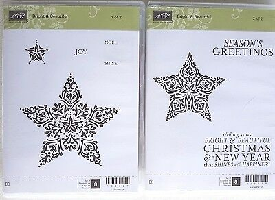 """Stampin' Up! """"BRIGHT & BEAUTIFUL"""" Clear Mount Stamp Set"""