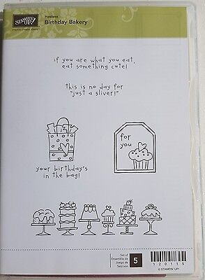 """Stampin' Up! """"BIRTHDAY BAKERY"""" Clear Mount Stamp Set"""