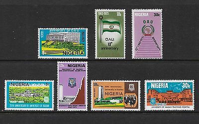NIGERIA - mint 1973 sets, 10th Anniv OAU, 25th Anniv Ibadan University, MNH MUH
