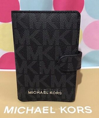 NEW Michael Kors Signature PVC Jet Set Travel Passport Case Holder in Black  $98