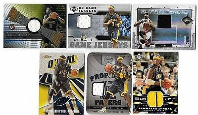Jermaine Oneal Lot Of 8 Different Authentic 7 Game Used Jerseys & Autograph