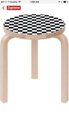 Supreme Artek Aalto Stool 60 Checkerboard Bench Limited Camp Out Chair OVO Bape