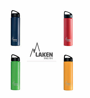 Classic Screw top Insulated St. stee waterl bottle by Laken - 750ml Assorted Col