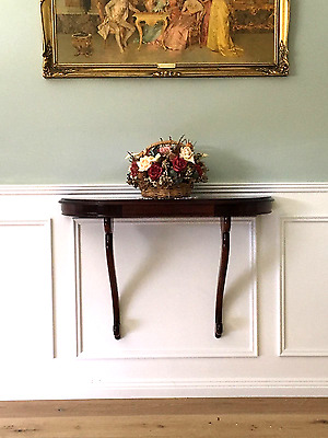 Elegant Art Deco Mahogany Hall Table, Circa 1930