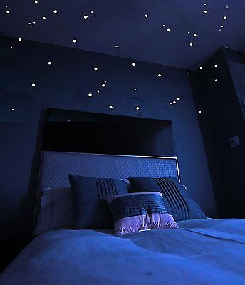 Glow  in the Dark Stars Sticker 528 dots Realistic Starry Sky Ceiling Wall Star