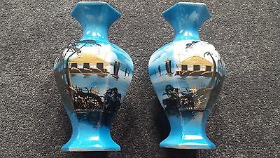 Antique BLYTHE pair of vases