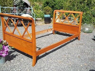 Antique French Elegant Walnut Empire Style Daybed