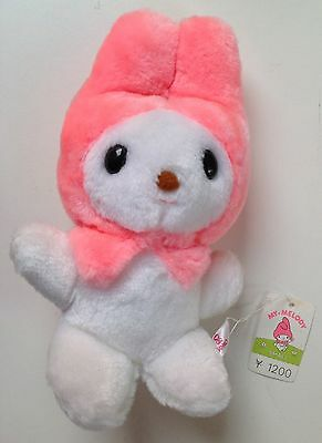 Vintage Sanrio 1976 My Melody plush doll with original tag