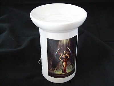 Ceramic Dark Angel Design Fragrance Oil and Incense Burner.