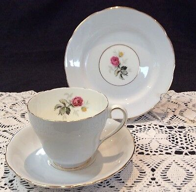 Royal Adderley Trio Tea Cup Saucer Cake Plate Vintage Collectables