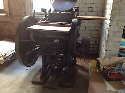 Vintage Printing Equipment – Treadle Platen, over 100 years old, working order