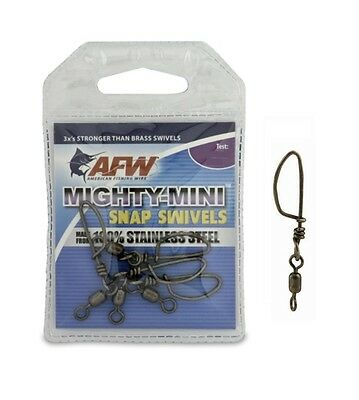 AFW Mighty Mini Stainless Steel Snap Swivels Crane Snaps Choose Size New