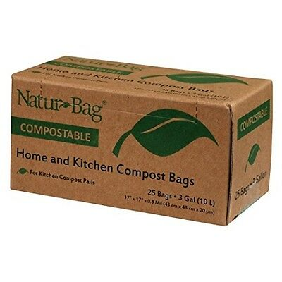 Natur-Bag NT1075-RTL-00004 Trash Bag, 3 Gal, 17 In L X 17 In W, Plastic