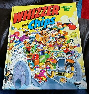 Vintage 1991 Whizzer And Chips Annual Hardback