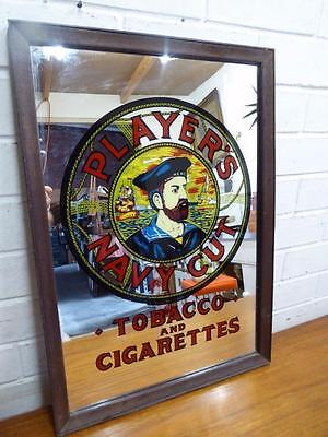 Vintage Collectors Players Navy Cut Tobacco And Cigarettes Bar  Mirror