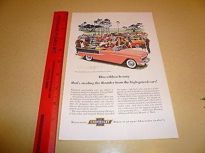 1955 Chevrolet Bel Air Convertible at Show Ad Advertisement - Vintage