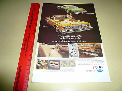 1973 Ford LTD Galaxie Ad Advertisement Vintage