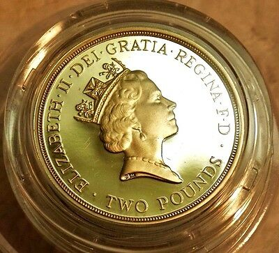 Great Britain 1995 United Nations 2 Pounds Piedfort Silver Coin,Proof  1945 1995
