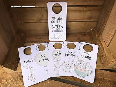 bunny rabbit BABY WARDROBE DIVIDERS Newborn - 1 Year SHOWER gifts organisers