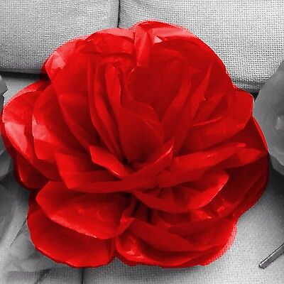 Paperbloomz Large Red Paper Roses X 5 Bulk Tissue Paper Flowers Wall Decor