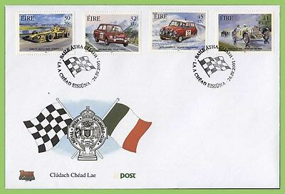 Ireland 2001 Car Racing set on First Day Cover
