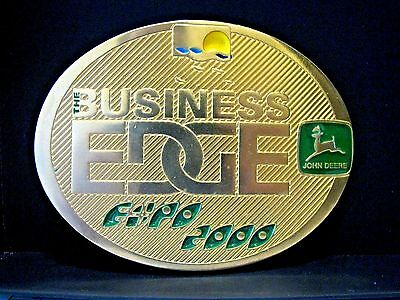 John Deere Melbourne Expo 2000 Belt Buckle The Business Edge Ltd Ed  s/n 001/150