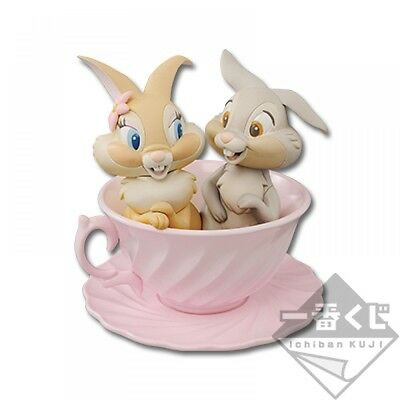 Disney Ichiban Kuji B Prize Happiness Tea party Miss bunny Thumper Cup Figure