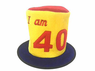 40Th Birthday Age Novelty Top Hat - Party Celebration
