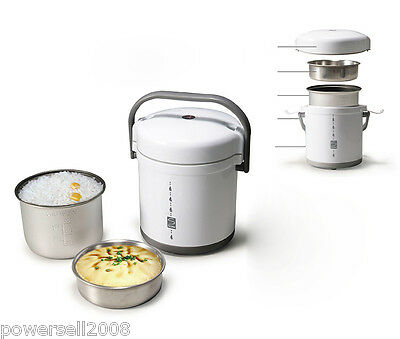 New High-Quality White Stainless Steel Mini Cylinder Rice Cooker Small Pot