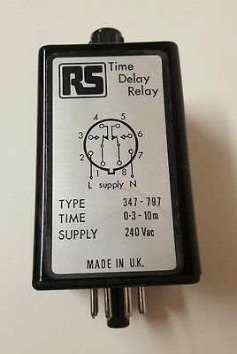 RS Time Delay Relay Switch 347-797,Electrical (bd)
