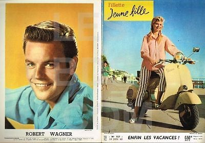 FILLETTE   n°  727   23/06/1960 Couv SCOOTER VESPA  / ROBERT WAGNER